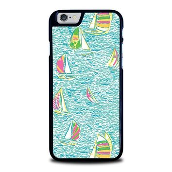 lilly pulitzer sailboat iphone 6 6s case cover  number 1