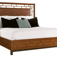 Mocha Paradise Point Rattan Bed, King, Panel Beds