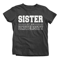 Shirts By Sarah Girl's Sister University 2016 T-Shirt Big Sister Shirts