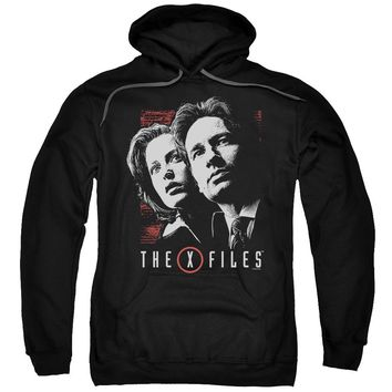 X Files - Mulder & Scully Adult Pull Over Hoodie Officially Licensed Apparel