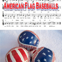 Hand Painted Baseballs / Operation Gratitude / American Flag / Americana / Patriotic / July 4th / Independence Day / Sports / Red White Blue