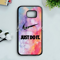 Nike Just Do It Galaxy Nebula  02 Samsung Galaxy S7 Edge Case | armeyla.com