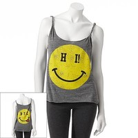 Jerry Leigh Hi Bye Smiley Face Tank - Juniors