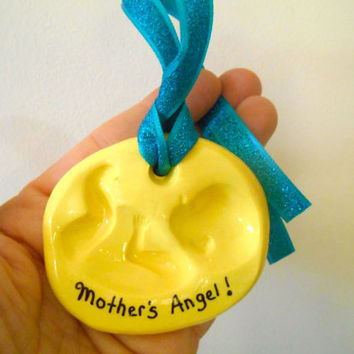 Baby Shower Favor, Expecting Mother Ornament, New Mother Gift, Baby Gift, Pregnancy Gift, Polymer Clay Baby Ornament, Expectant Mother