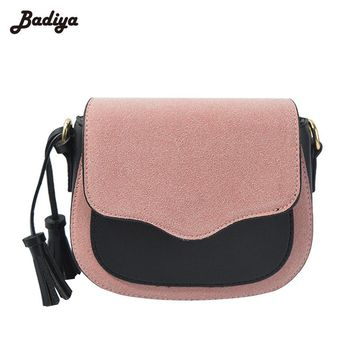 Fashion Women Handbag PU Leather Tassel Messenger Bags Famous Brand Designer Bag  2017 Briefcase Shoulder Crossbody Bags