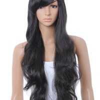 Cool2day Sexy Girl's Long Curly Hair Party Full Wig (Model: Jf010031) (Black)