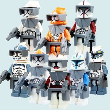 Star Wars Force Episode 1 2 3 4 5 CZHY  7 The Force Awakens Clone Trooper Commander Fox Rex Building Blocks Figuer Collection Xmas Gift Toys For Kids AT_72_6