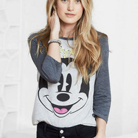 Oversized Mickey Mouse Tee - Grey