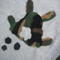 Camo Bunny Shirt complete with POOP Too