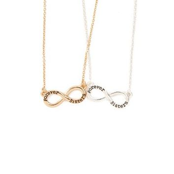 Forever Sisters Infinity Pendant Necklaces Set of 2 | Claire's