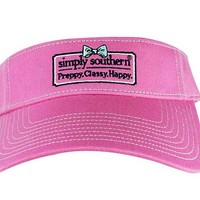 Simply Southern Preppy Collection Preppy Classy Happy Visor in Pink VISORSSPREPPY-PINK