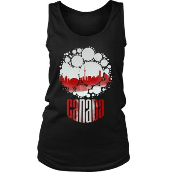 Canada Canadian US Native Country Skyline Women's Tank
