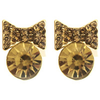 ROMWE | ROMWE Bowknot Shaped Earrings, The Latest Street Fashion