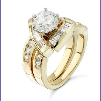 Gregorio 18K Yellow Diamond Engagement Ring R-115
