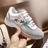 CHANEL new spring and summer leisure wild college tide shoes F-ALS-XZ grey/blue