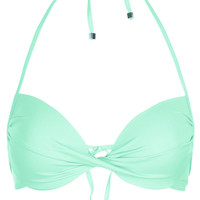 Aqua Plunge Bikini Top - Swimwear - Clothing - Topshop USA