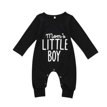Newborn Infant Baby Boy Long Sleeve Cotton Rompers Jumpsuit Casual Warm Autumn Winter Cute Outfit Clothes Black 0-24M