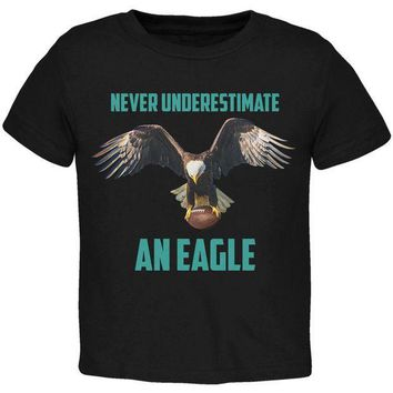 PEAPGQ9 Never Underestimate An Eagle Flying Football Toddler T Shirt