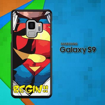 Superman Clark Kent Pop Art C0049 Samsung Galaxy S9 Case