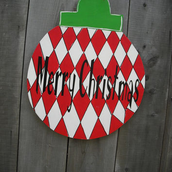 Christmas yard art- Initial door hanger -Christmas door hanger - Christmas decorations - Wood yard art  - Christmas - ©Jack Jack's Wayart