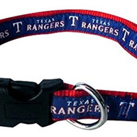 Pets First Texas Rangers Nylon Pet Collar - MLB Official - Small