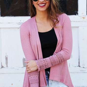 Hit The Lounge Pink Cardi