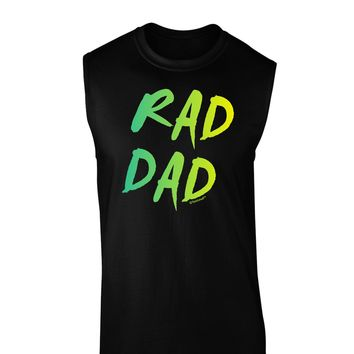 Rad Dad Design - 80s Neon Dark Muscle Shirt