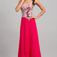 Floor Length Strapless Sweetheart Dess