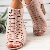 Katrina Cut-Out Booties (Blush)