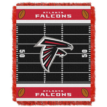 Atlanta Falcons NFL Triple Woven Jacquard Throw (Field Baby Series) (36x48)