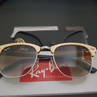 Raybans Clubmaster size 49mm 0RB3016 989/51 cream frame