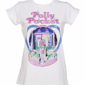 Women's Vintage Polly Pocket Rolled Sleeve Boyfriend T-Shirt