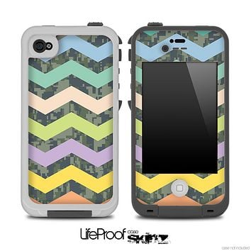 Camo Under Summer Chevron Pattern Skin for the iPhone 5 or 4/4s LifeProof Case