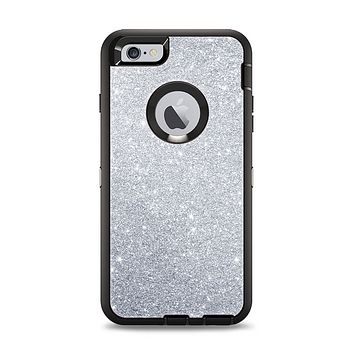 The Silver Sparkly Glitter Ultra Metallic Apple iPhone 6 Plus Otterbox Defender Case Skin Set