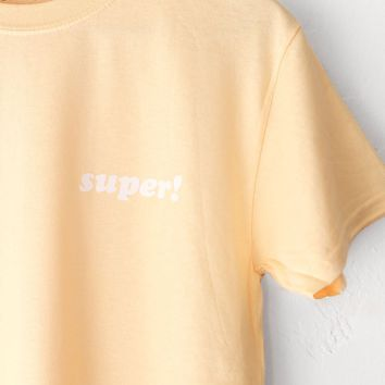 Super! Tee - Yellow