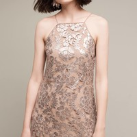 Poisat Sequined Halter Dress