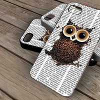 owl on newspaper on iPhone 4 / iPhone 4S / iPhone 5 / Samsung S2 / Samsung S3 / Samsung S4 Case Cover THEMOSTCASE