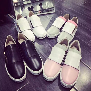 Zippers Casual Vans Flat Shoes [4919227460]