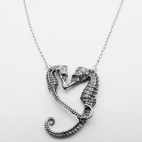 Supermarket: Sterling Silver Seahorse Heart Necklace from Georgia Varidakis Jewelry