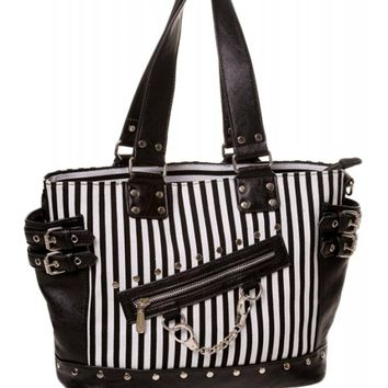 Banned Apparel Handcuff Handbag - Stripe