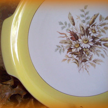Vintage China Cunningham and Picket Discontinued Sunglow Cake Plate