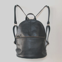 Leather Backpack Black, Leather Backpack, Soft Leather Bag, Leather Backpack, School Backpack, Travel Backpack, Everyday Backpack Purse