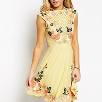 Needle & Thread Embellished Floral Circle Dress