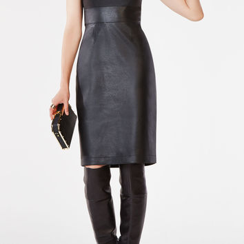Alese Faux-Leather Dress