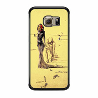 Salvador Dali Woman With Flower Head Samsung Galaxy S6 Edge Case