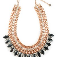 Rose Gold Multi Layer Dram Necklace by Juicy Couture, O/S