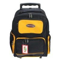 Durable Rolling Wheel School Backpack Hiking Bag Wheeled - 10 Colors Available (Black/Yellow):Amazon:Clothing