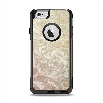 The Tan Vintage Subtle Laced Texture Apple iPhone 6 Otterbox Commuter Case Skin Set