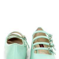 Mojo Moxy Mayfair Mint Strappy Pointed Flats