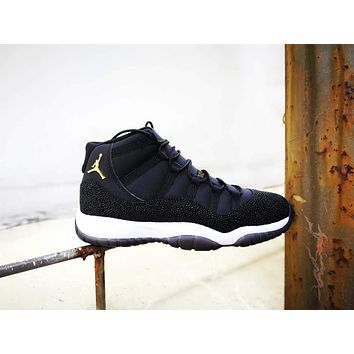 Original Air Jordan Retro 11 XI PRM 'Heiress Black Stingray'